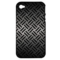 Woven2 Black Marble & Gray Metal 1 (r) Apple Iphone 4/4s Hardshell Case (pc+silicone) by trendistuff