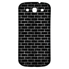 Brick1 Black Marble & Gray Metal 2 Samsung Galaxy S3 S Iii Classic Hardshell Back Case by trendistuff