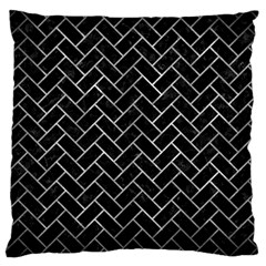 Brick2 Black Marble & Gray Metal 2 Large Cushion Case (two Sides) by trendistuff