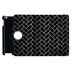 Brick2 Black Marble & Gray Metal 2 Apple Ipad 2 Flip 360 Case by trendistuff