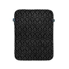 Hexagon1 Black Marble & Gray Leather Apple Ipad 2/3/4 Protective Soft Cases by trendistuff