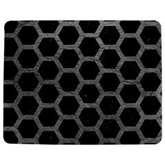 Hexagon2 Black Marble & Gray Leather Jigsaw Puzzle Photo Stand (rectangular) by trendistuff