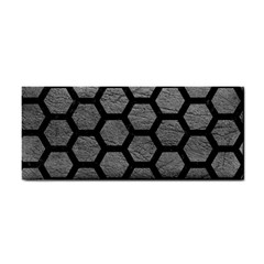 Hexagon2 Black Marble & Gray Leather (r) Cosmetic Storage Cases