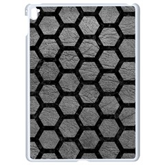 Hexagon2 Black Marble & Gray Leather (r) Apple Ipad Pro 9 7   White Seamless Case by trendistuff