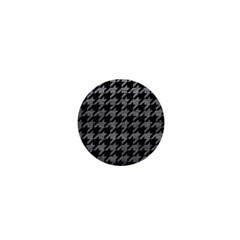 Houndstooth1 Black Marble & Gray Leather 1  Mini Buttons by trendistuff