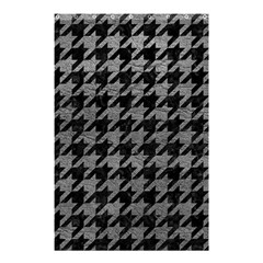 Houndstooth1 Black Marble & Gray Leather Shower Curtain 48  X 72  (small)  by trendistuff