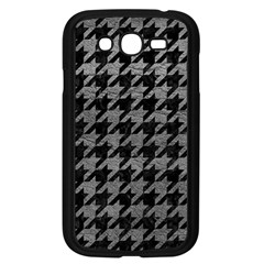 Houndstooth1 Black Marble & Gray Leather Samsung Galaxy Grand Duos I9082 Case (black) by trendistuff