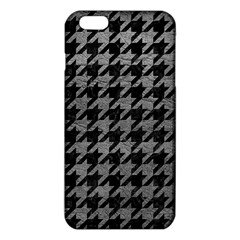 Houndstooth1 Black Marble & Gray Leather Iphone 6 Plus/6s Plus Tpu Case by trendistuff