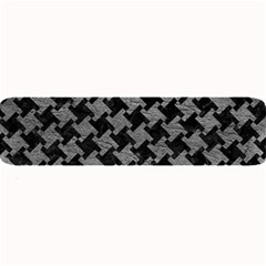 Houndstooth2 Black Marble & Gray Leather Large Bar Mats by trendistuff