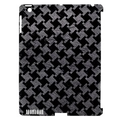 Houndstooth2 Black Marble & Gray Leather Apple Ipad 3/4 Hardshell Case (compatible With Smart Cover) by trendistuff