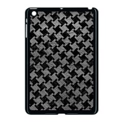 Houndstooth2 Black Marble & Gray Leather Apple Ipad Mini Case (black) by trendistuff