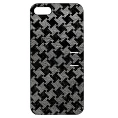 Houndstooth2 Black Marble & Gray Leather Apple Iphone 5 Hardshell Case With Stand by trendistuff