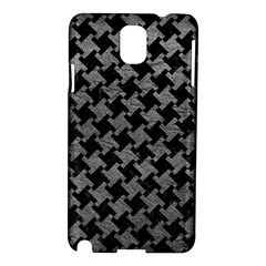 Houndstooth2 Black Marble & Gray Leather Samsung Galaxy Note 3 N9005 Hardshell Case by trendistuff