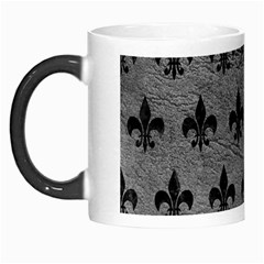 Royal1 Black Marble & Gray Leather Morph Mugs by trendistuff