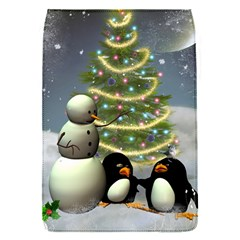 Funny Snowman With Penguin And Christmas Tree Flap Covers (s)  by FantasyWorld7