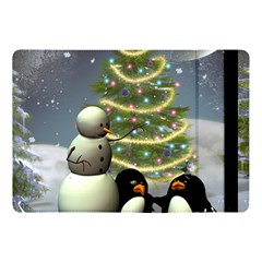Funny Snowman With Penguin And Christmas Tree Apple Ipad Pro 10 5   Flip Case by FantasyWorld7