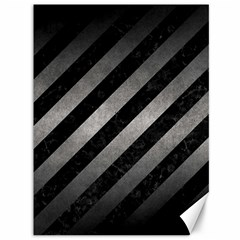 Stripes3 Black Marble & Gray Metal 1 Canvas 36  X 48   by trendistuff
