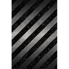 Stripes3 Black Marble & Gray Metal 1 5 5  X 8 5  Notebooks by trendistuff