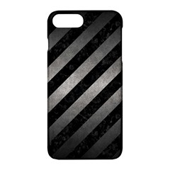 Stripes3 Black Marble & Gray Metal 1 Apple Iphone 7 Plus Hardshell Case by trendistuff