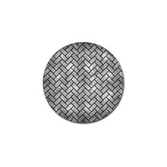 Brick2 Black Marble & Gray Metal 2 (r) Golf Ball Marker (10 Pack) by trendistuff