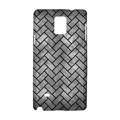 Brick2 Black Marble & Gray Metal 2 (r) Samsung Galaxy Note 4 Hardshell Case by trendistuff