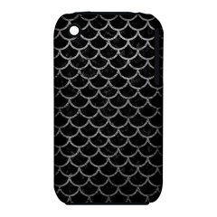 Scales1 Black Marble & Gray Leather Iphone 3s/3gs by trendistuff