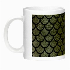 Scales1 Black Marble & Gray Leather (r) Night Luminous Mugs by trendistuff