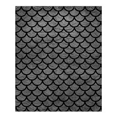 Scales1 Black Marble & Gray Leather (r) Shower Curtain 60  X 72  (medium)  by trendistuff