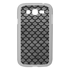 Scales1 Black Marble & Gray Leather (r) Samsung Galaxy Grand Duos I9082 Case (white) by trendistuff