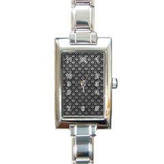 Scales2 Black Marble & Gray Leather (r) Rectangle Italian Charm Watch by trendistuff