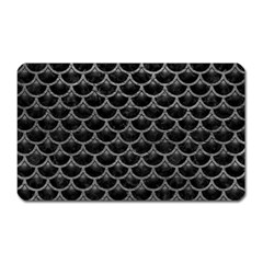 Scales3 Black Marble & Gray Leather Magnet (rectangular) by trendistuff