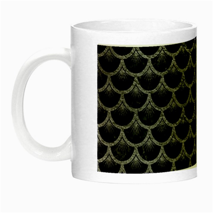 SCALES3 BLACK MARBLE & GRAY LEATHER Night Luminous Mugs