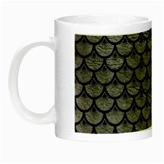 Scales3 Black Marble & Gray Leather (r) Night Luminous Mugs by trendistuff