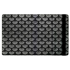 Scales3 Black Marble & Gray Leather (r) Apple Ipad 3/4 Flip Case by trendistuff