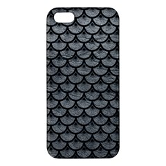 Scales3 Black Marble & Gray Leather (r) Iphone 5s/ Se Premium Hardshell Case by trendistuff