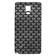 Scales3 Black Marble & Gray Leather (r) Galaxy Note 4 Back Case by trendistuff
