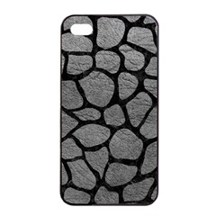 Skin1 Black Marble & Gray Leather Apple Iphone 4/4s Seamless Case (black) by trendistuff
