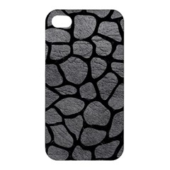 Skin1 Black Marble & Gray Leather Apple Iphone 4/4s Hardshell Case by trendistuff