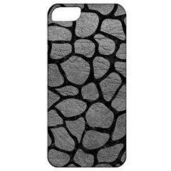 Skin1 Black Marble & Gray Leather Apple Iphone 5 Classic Hardshell Case by trendistuff