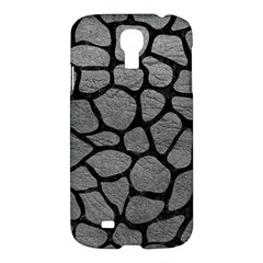 Skin1 Black Marble & Gray Leather Samsung Galaxy S4 I9500/i9505 Hardshell Case by trendistuff
