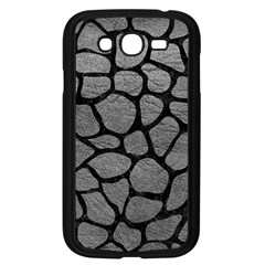 Skin1 Black Marble & Gray Leather Samsung Galaxy Grand Duos I9082 Case (black) by trendistuff