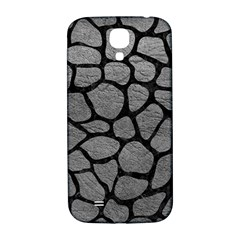 Skin1 Black Marble & Gray Leather Samsung Galaxy S4 I9500/i9505  Hardshell Back Case by trendistuff