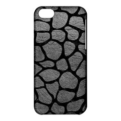 Skin1 Black Marble & Gray Leather Apple Iphone 5c Hardshell Case by trendistuff