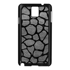 Skin1 Black Marble & Gray Leather Samsung Galaxy Note 3 N9005 Case (black) by trendistuff