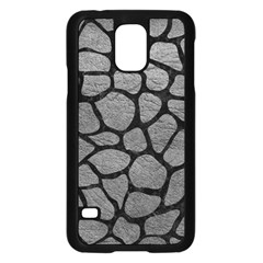 Skin1 Black Marble & Gray Leather Samsung Galaxy S5 Case (black) by trendistuff
