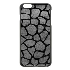 Skin1 Black Marble & Gray Leather Apple Iphone 6 Plus/6s Plus Black Enamel Case by trendistuff