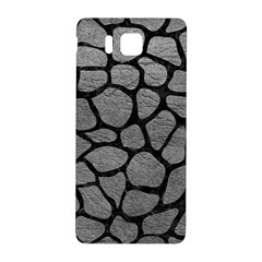 Skin1 Black Marble & Gray Leather Samsung Galaxy Alpha Hardshell Back Case by trendistuff