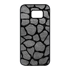 Skin1 Black Marble & Gray Leather Samsung Galaxy S7 Edge Black Seamless Case by trendistuff