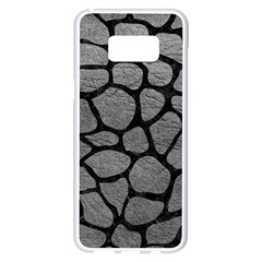 Skin1 Black Marble & Gray Leather Samsung Galaxy S8 Plus White Seamless Case by trendistuff