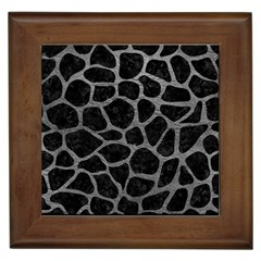 Skin1 Black Marble & Gray Leather (r) Framed Tiles by trendistuff
